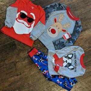 Christmas pajamas and Christmas shirts NWT & Used